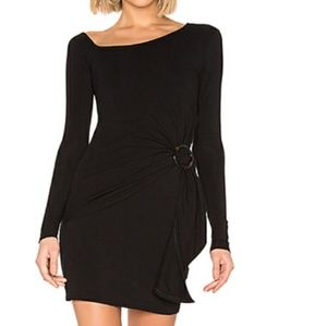 Free People Black Frankie Gathered Dress Small